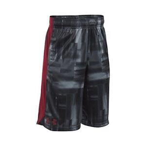 Under Armour Boys' Eliminator Printed Shorts SteelCardinal Youth X-Small