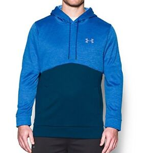 Under Armour Men's Storm Armour Fleece Twist Hoodie Blackout NavyBlue Marker