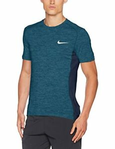 Nike M Nk Dry Miler Top Ss Cool Mens T-Shirt Running Armory BlueHtrThunder Bl