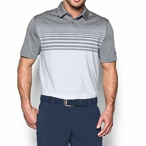Under Armour Men's CoolSwitch Upright Polo SteelWhite XXX-Large