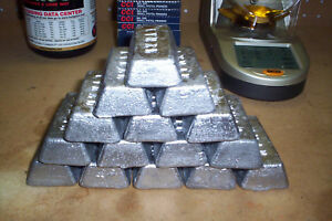 LEAD INGOTS READY TO BE MOLDED INTO BULLETS OR FISHING WEIGHTS 15 LBS.