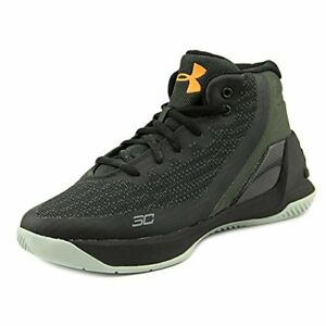 Under Armour PS Curry 3 Youth US 11.5 Black Basketball Shoe