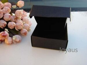 24x Black Favour Boxes Gift Paper Tags Wedding Birthday Chocolate Bomboniere Box