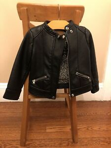 Zara Leather Jacket for Girls Size 4T
