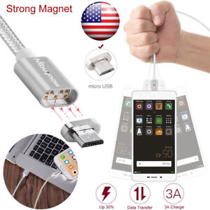 Magnetic Micro USB Data Sync Lighting Charger Adapter Charging Cable For Android