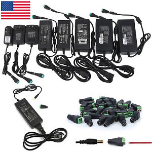 12V 1 2 3 5 6 8 10A Power Supply AC to DC Adapter for 5050 3528 RGB LED Strip