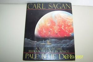 Pale Blue Dot  Carl Sagan USA Signed 1994 hardcover Wjacket universe English