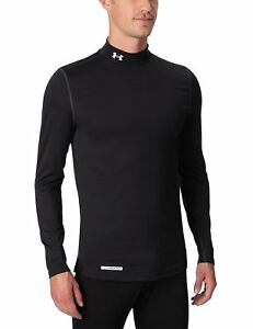 Under Armour EVO ColdGear Fitted Mock Neck Long Sleeve Running Top