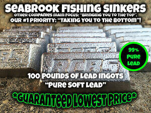 Pure Soft Lead Ingots  100 Pounds  Seabrook Fishing Sinkers