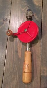 Vintage Hand Turn Drill Great Neck No 42 Made in USA