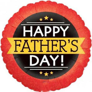 18-Inch Happy Fathers Day Banner Balloon