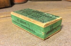 Vintage Winchester .22 Short Rifle Two Piece Box Ammo Cartridges 12 Target Load