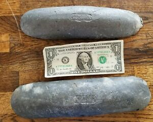 17 Pounds LBS LEAD BARS Sinkers Ballast Weights Scrap Solder - 2 Bars - Ingots