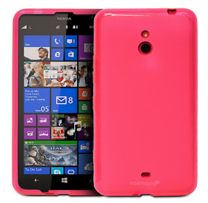 Nokia Lumia 1320 Case Hot Pink Fosmon DURA FRO SLIM Fit Case Flexible TPU Cover
