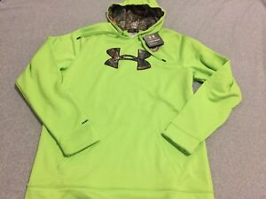 NWT UNDER ARMOUR Cold Gear Real Tree Green Camo Sweater HOODIE Men's XL Tall XLT