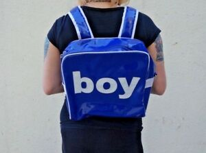 Trumpette Discontinued Blue Patent Leather Mini Backpack BOY Diaper Bag