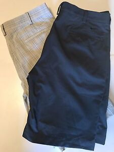 Nike Fit Dry Golf Shorts Mens 34 Two Pairs Performance Fabric Moisture Wicking
