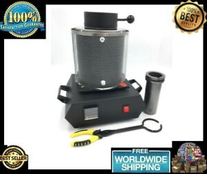 Electric Jewelry Induction Melting Furnace 3KG Aluminum Copper Gold Lead Silver