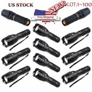 LOT LED Flashlight by BulbHead 2000 LUX 5 Beam Modes Tactical Light Bright Lamp
