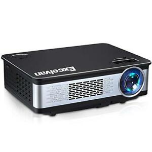 Excelvan 3300 Lumens HD Multimedia Home Theater Projector Support 1080P with HDM