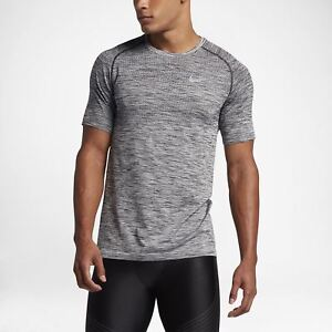 Men's Nike Dry Knit Short Sleeve Running Top Heather SMALL 833562 010 NWT