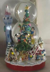 Disney Double Bubble We Wish You A Merry Christmas Musical Snowglobe