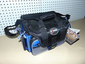 The 3 Legends Pro Series Fishing Tackle Bag w 4 Utility Boxes & Custom Dividers