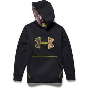 Under Armour Youth Storm Caliber Hoodie Blk Med 1265756-001-MD