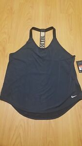 Womens large Nike Dry Fit tank Black (Just do it) NWT Work out shirt top