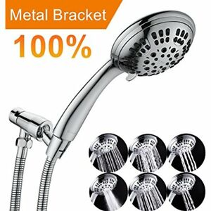 G-Promise High Pressure Shower Head Premium 6 Spray Setting Hand Held Heads With