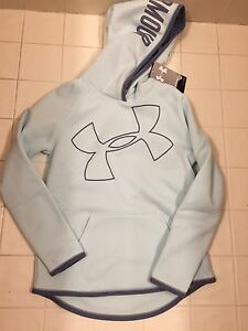New Under Armour Kids Girls Light Green Sweatshirt Hoodie Size: Youth M
