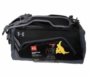 Under Armour UA x Project Rock Contain Duo + Duffel Bag Black Gold ( 1304575 )
