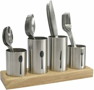 Sorbus Silverware Holder with Caddy for Spoons, Knives Forks, Stainless Steel