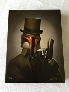 Star Wars Boba Fett Headhunter Canvas Giclee Print by Greg Peltz
