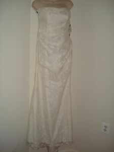 db studio Lace  Sleeveless Wedding Dressgown Ven Style 875218 Ivory-Davids Sz-4