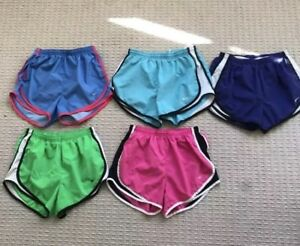 LOT OF 5 NIKE DRI-FIT Lined TEMPO RUNNING WORKOUT SHORTS Womens SMALL XSS