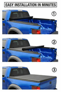 Soft Roll-Up Tonneau Cover Fit 07-13 Silverado Sierra 1500 5.8ft Short Truck Bed