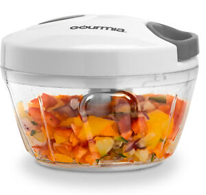 Gourmia GMS9280 Mini Slicer Pull String Manual Food Processor, with Bowl - 2 cup