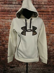 Under Armour Womens Storm 1 Caliber Hoody Camo White Pullover Kangaroo Pouch Sm