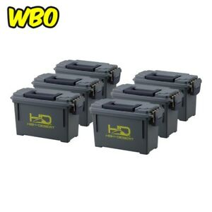 Plastic Ammo Boxes 6 Packs Lightweight High Lockable Water Corrosion Resistant
