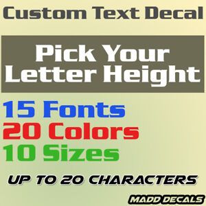 Custom Your Text Decal Name Vinyl Sticker Personalized City Username Lettering C $16.00