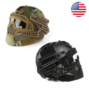 1X Airsoft Paintball Tactical SWAT Protective Fast Helmet Mask Halloween gift