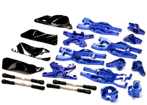 integy Aluminum Suspension Kit HPI 110 Bullet MT & Bullet ST Blue