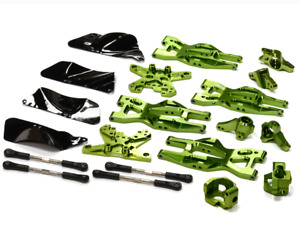 integy Aluminum Suspension Kit HPI 110 Bullet MT & Bullet ST Green