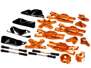 integy Aluminum Suspension Kit HPI 110 Bullet MT & Bullet ST Orange