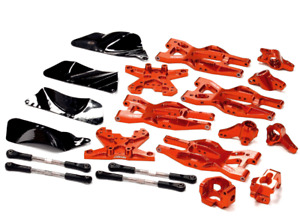 integy Aluminum Suspension Kit HPI 110 Bullet MT & Bullet ST Red
