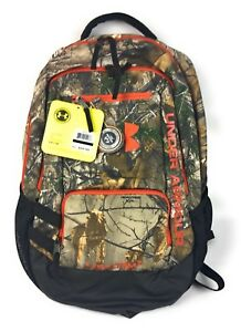 Under Armour UA Camo Hustle Backpack Hunting Bag Realtree Camo Unisex