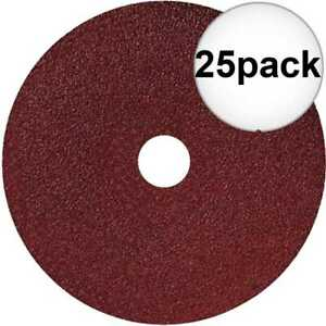 Sait 50035 25pk 7quot; x 7 8quot; 80 Grit Resin Fiber Disc for Sanders and Grinders New