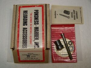 Ponsness-Warren Special Paper Crimp Assembly 20 Ga. NOS
