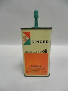 Vintage Singer Sewing Machine Oil Tin Advertising Can 4 oz A2 $10.95